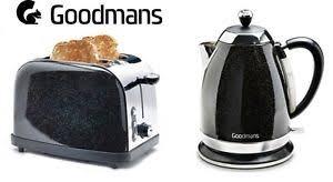 goodmans black diamond sparkle 1 8l 3kw kettle u0026 matching 2 slice