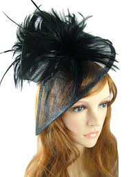 funeral hat black sinamay feathers twist hat fascinator occasion wedding