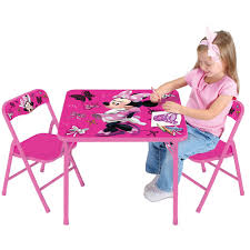 activity table and chairs new disney pink minnie mouse folding table desk chair set girls kids