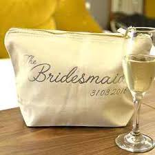 personalised bridal party makeup and toiletry bags brides
