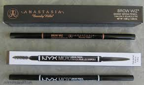 Eyebrow Powder Vs Pencil Anastasia Brow Wiz Vs Nyx Micro Brow Pencil Refreshed And Fit