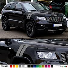 jeep grand cherokee stickers 2x hood fender racing hash stripes decal graphic vinyl compatible