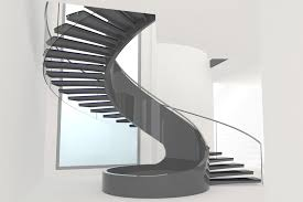 decorations nice looking modern black spiral staircase designs