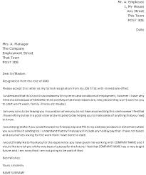resignation letter with immediate effect u2013 cover letters and cv