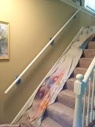 Stairs Without Banister Green With Decor Paint Banister Without Taking It Off The Wall