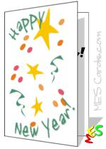 new year u0027s card templates