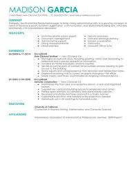 Examples Of Summary Of Qualifications On Resume by Best Receptionist Resume Example Livecareer