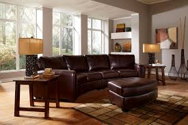 How To Decorate A Living Room With A Brown Leather Sectional Georgetown Brown Leather Sectional Set