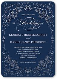 wedding invitations blue whimsical scrolls 5x7 wedding invitations shutterfly