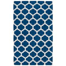 Flat Woven Rugs Quatrefoil Rug Blue Luxe Home Company