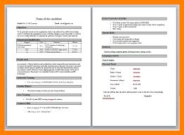 Resume Sample For Fresher Teacher by 4 Cv Format For Fresher Teachers Packaging Clerks