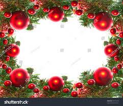 border red christmas garland baubles ribbons stock photo 67172473