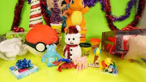 play doh pokemon egg toys surprise christmas ornaments playdough