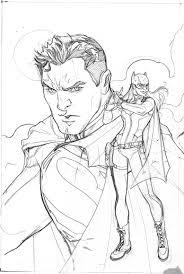 bombshellter superman 50 variant cover step 1 lineart