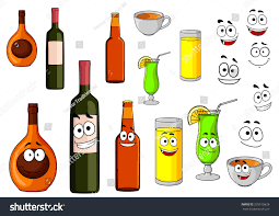 wine bottle emoji beverage icons bottle wine tropical cocktail stock vector