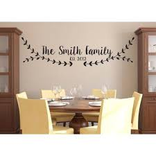 Dining Room Wall Decals Dining Room Wall Stickers Personalized Family Name Wall Sticker
