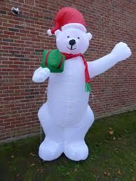 large inflatable polar bear christmas decoration 240cm 8ft 8 led