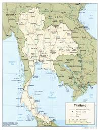 Political Map Of Southwest Asia by Map Of Thailand Thailand Travel Map Thailand Political Map