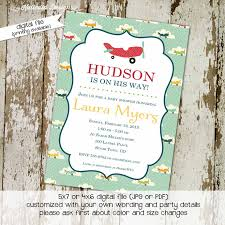 airplane baby shower invitation boy oh by katiedid designs on zibbet