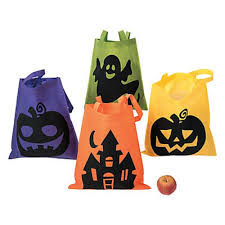 amazon com 4 large neon halloween trick or treat totes bags party