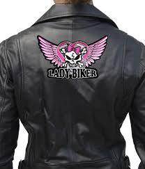 biker apparel lady biker pink wings skull embroidered biker patch u2013 quality