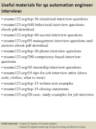 Qa Manual Tester Sample Resume by Top 8 Qa Automation Engineer Resume Samples