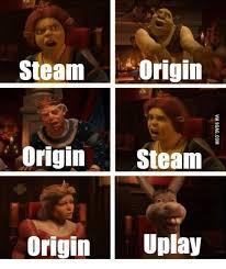 Internet Meme Origins - steam origin origin steam origin uplay uplay meme on me me