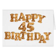 funny 45 birthday greeting cards zazzle co nz