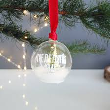 personalised christmas tree decoration led fairy lights by made