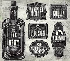 halloween bottle lables set of halloween printable black and white labels with bottle