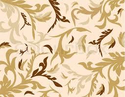 Western Drapery Fabric Old Lux Art Silk Leaf Brown Curve Tiled Retro Wealt