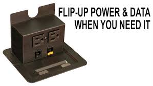 desk power outlet interact jr flip up power data outlet easy desk mount youtube