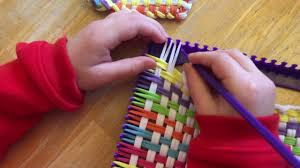 finishing off kids weaving loom project youtube