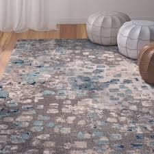 Brown And Blue Area Rug bungalow rose crosier grey u0026 light blue area rug u0026 reviews wayfair