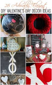 Ideas For Homemade Valentine Decorations by 28 Adorably Elegant Diy Valentine U0027s Day Decor Ideas The Happy Housie