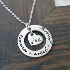 necklace with kids initials personalized sted jewelry by gracefully made