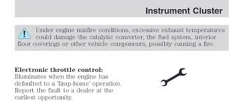 wrench light on ford escape whats the difference between wrench light and check engine light