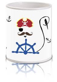 captain pirates anchor print coffee mugs crazy beta