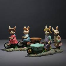 aliexpress com buy handicrafts resin decoration of couple rabbit