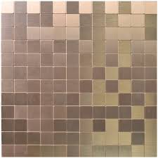 peel u0026 stick metal tiles for kitchen backsplashes copper brushed