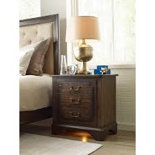 Kincaid Bedroom Furniture Vintage Nightstand With Built In Power Strip And Nightlight By