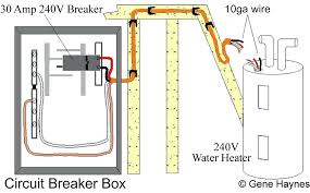 electric water heater wiring diagram volt water heater circuit