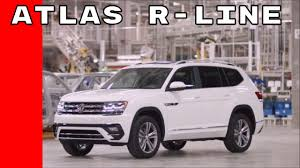 atlas volkswagen white us spec 2018 volkswagen atlas r line walkaround youtube