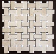Shower Floor Mosaic Tiles by Crema Marfil And White Mother Of Pearl Basketweave Tile Perfect