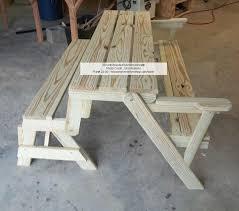 picnic table converts to bench convertible folding picnic bench table woodchuckcanuck picnic