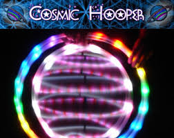 cosmic color ribbon gyro hoop etsy
