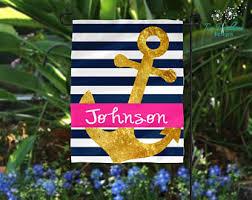 Personalized Garden Decor Nautical Garden Flag Etsy