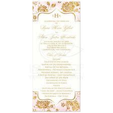 Order Of Wedding Program Vintage Floral Monogrammed Wedding Program Ivory Blush Pink