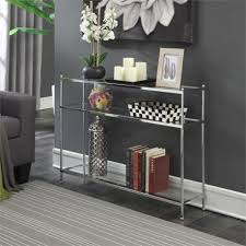 convenience concepts console table convenience concepts royal crest console table in chrome