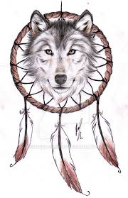 wolf dreamcatcher ii design by rozthompsonart deviantart